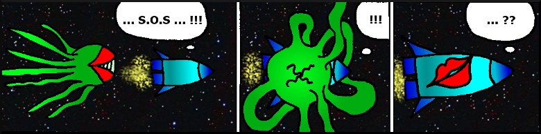 Vesmírna chobornica strip
